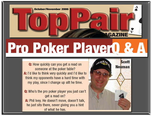 Top Pair Magazine - Ask the Pro.